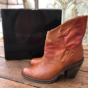 Miss Sixty Monet Boots size 38 in Cognac color